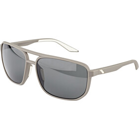 100% Konnor Aviator Square Bril, soft tact dark haze/smoke